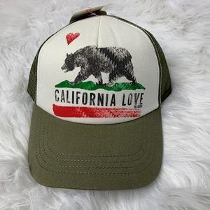 NWT Billabong California Love Trucker Hat